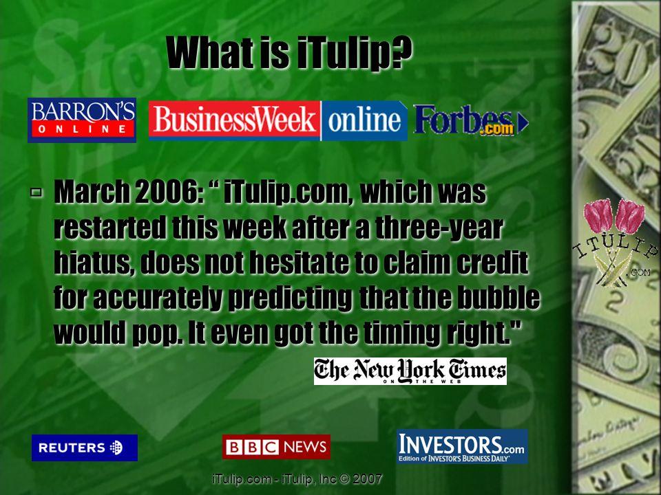 iTulip.com - iTulip, Inc © 2007 Now What.