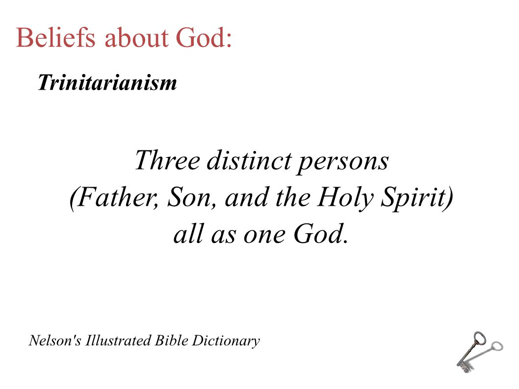 Beliefs about God: Belief in three God s. Tritheism