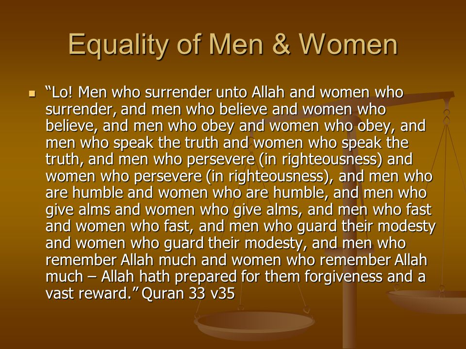 Equality of Men & Women Lo.