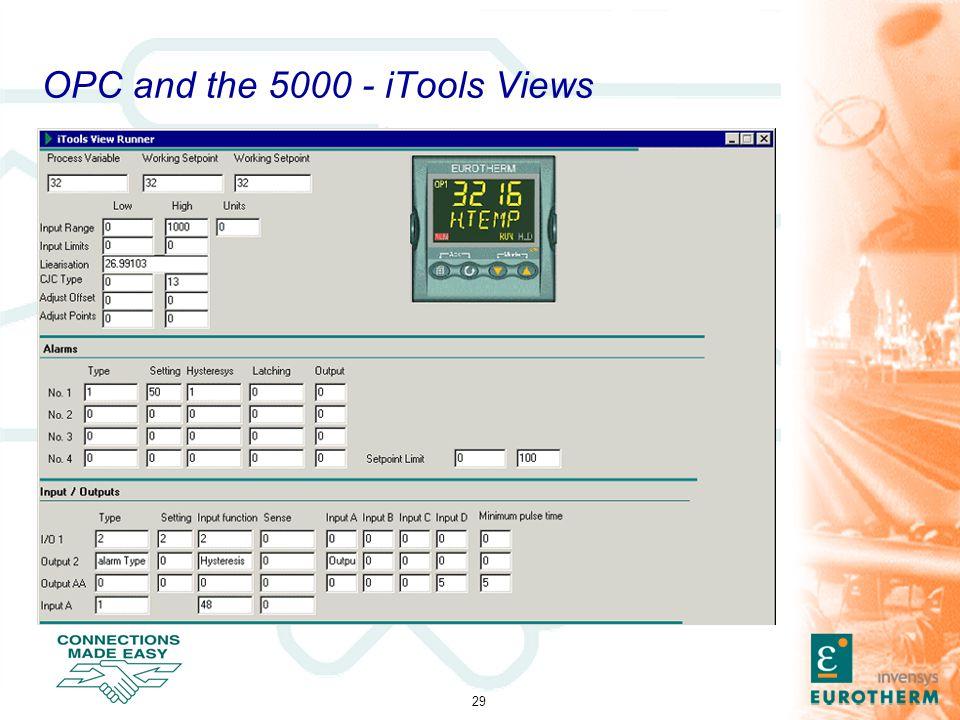 29 OPC and the 5000 - iTools Views