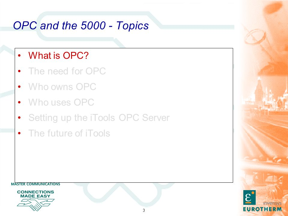 4 OPC and the 5000 - What is OPC.