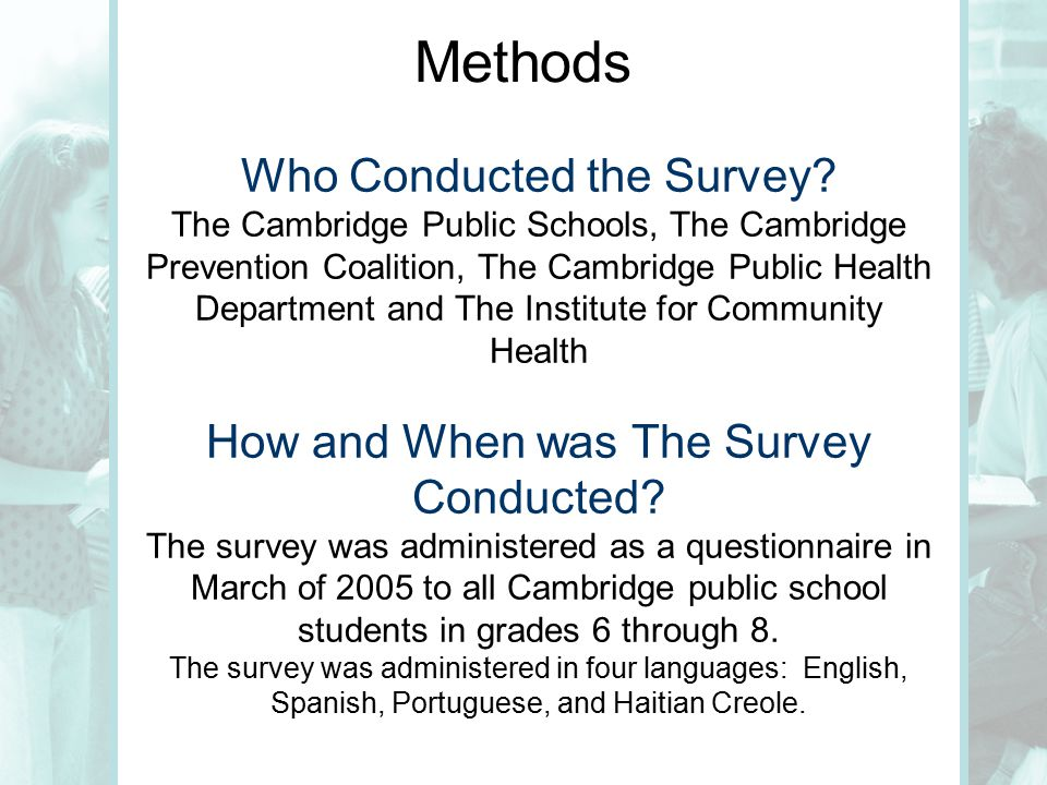 Methods Who Conducted the Survey.