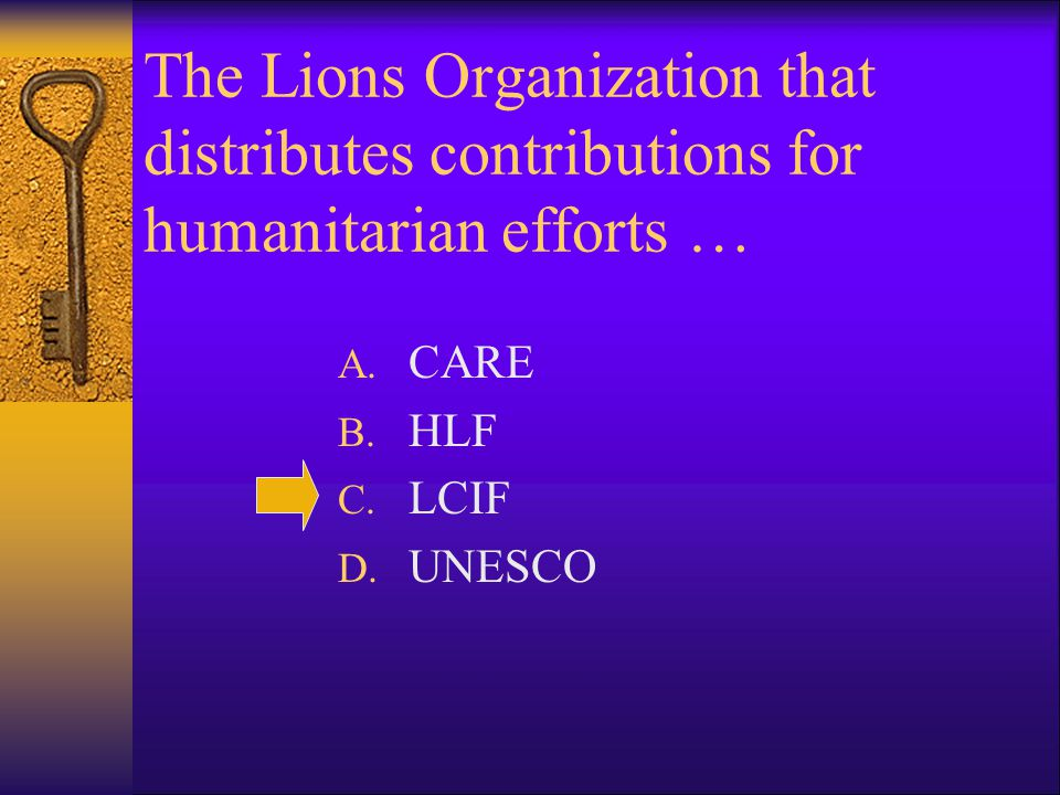 Who was the first President of the Association of Lions Clubs .
