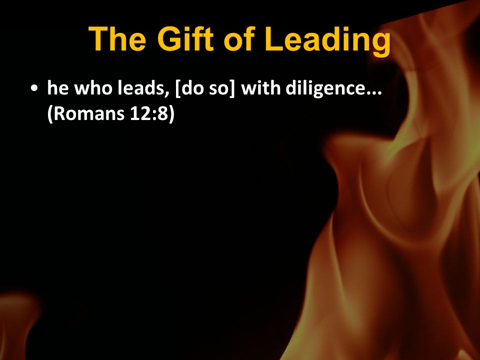 The Gift of Leading he who leads, [do so] with diligence... (Romans 12:8)he who leads, [do so] with diligence... (Romans 12:8)