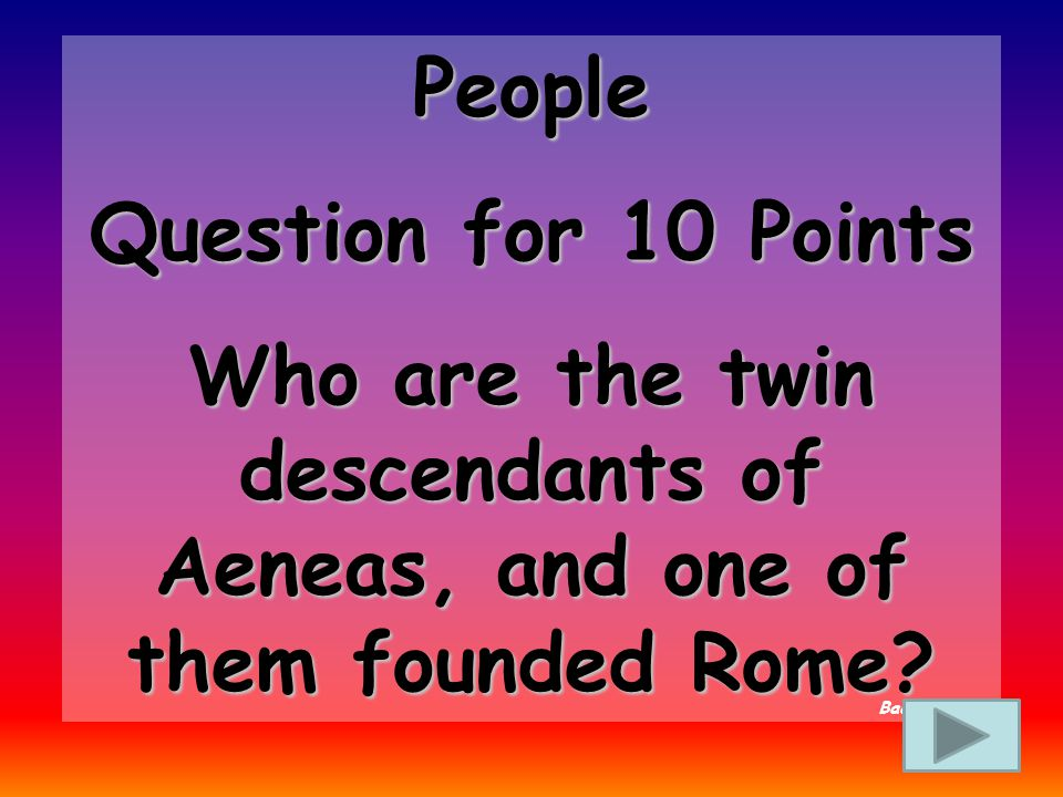People Answer for 5 Points Who Is Aeneas Back to Board