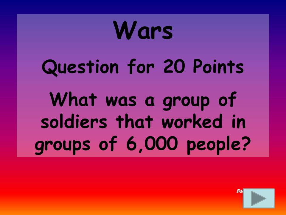 Wars Answer for 15 Points Who is Hannibal Back to Board
