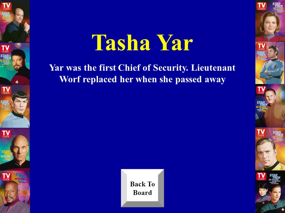 Who was the first Chief of Security when the Next Generation series began Answer