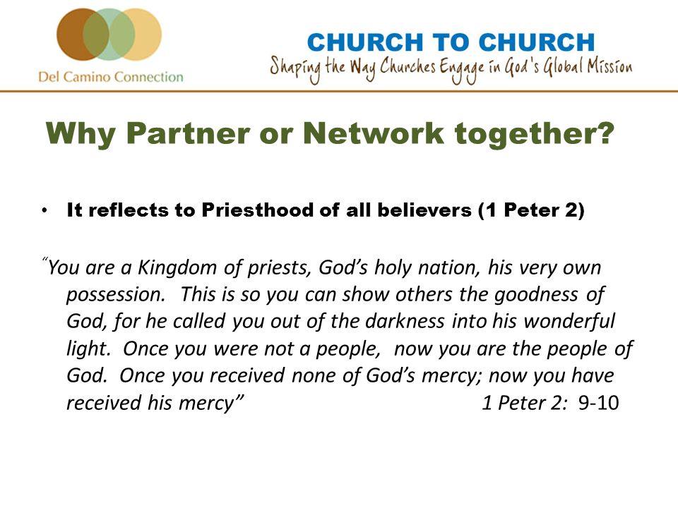 Why Partner or Network together.