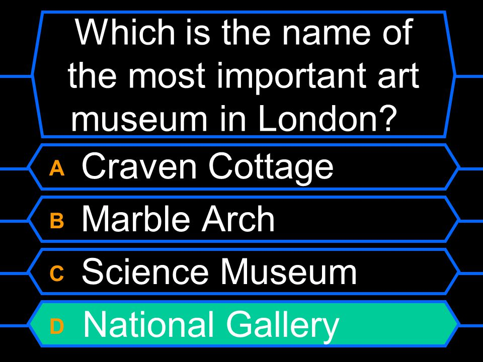 Which is the name of the most important art museum in London.