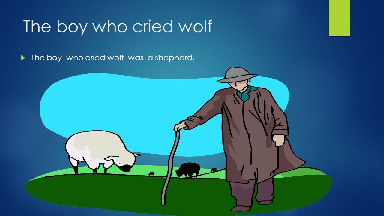 The boy who cried wolf  The boy who cried wolf was a shepherd.