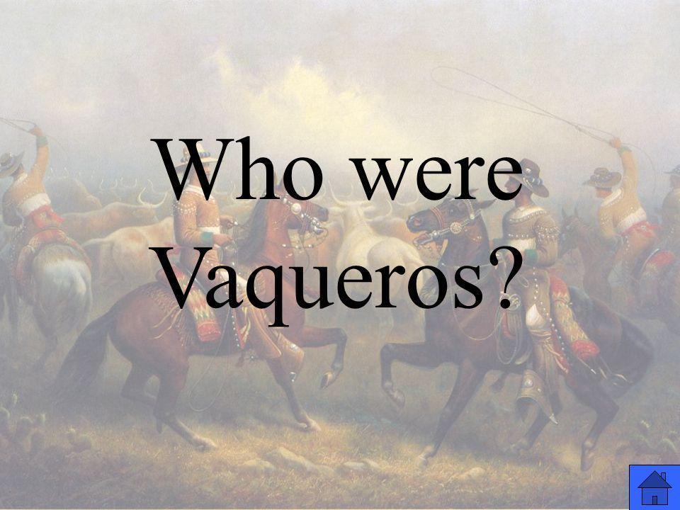 Who were Vaqueros