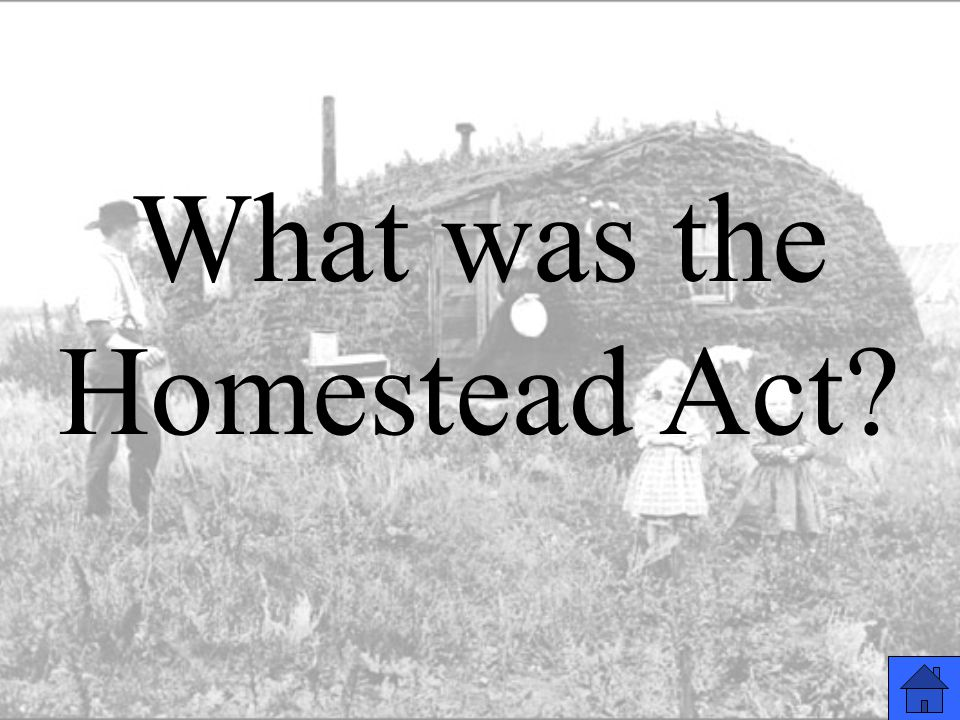 What was the Homestead Act?