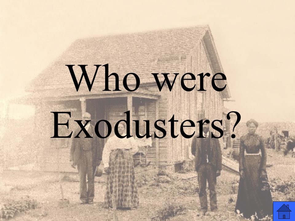 Who were Exodusters?