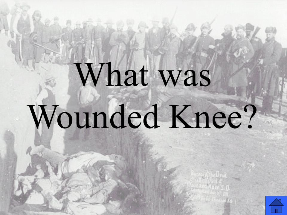 What was Wounded Knee?