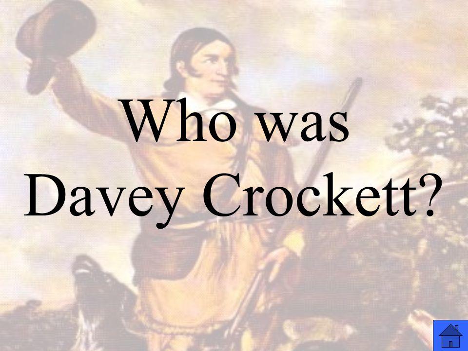 Who was Davey Crockett