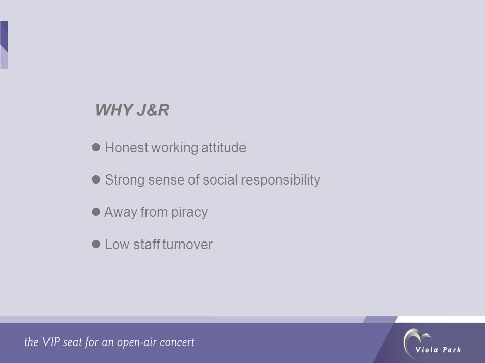 Honest working attitude Strong sense of social responsibility Away from piracy Low staff turnover More …