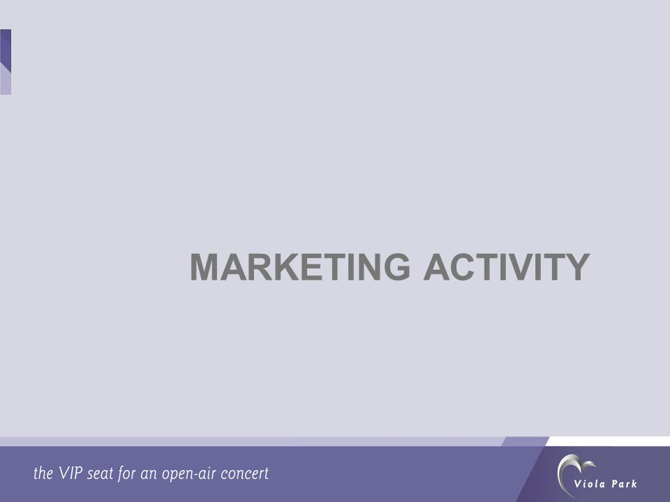 MARKETING ACTIVITY
