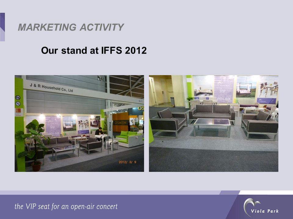 Our stand at IFFS 2012 MARKETING ACTIVITY
