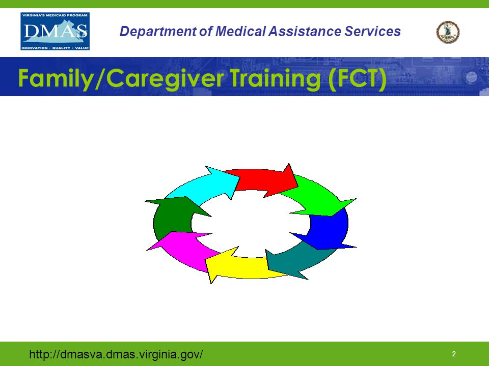 1 Department of Medical Assistance Services DD Waiver Provider Training Department of Medical Assistance Services Division of Long-Term Care and Quality Assurance 2013
