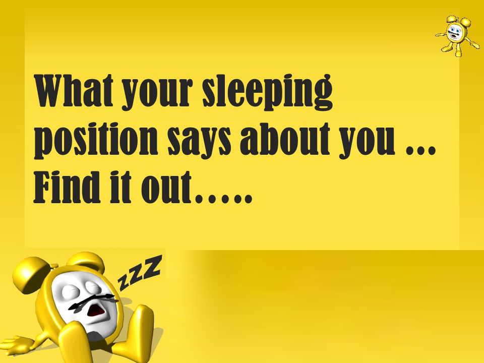 Health related info: Try to avoid this position.