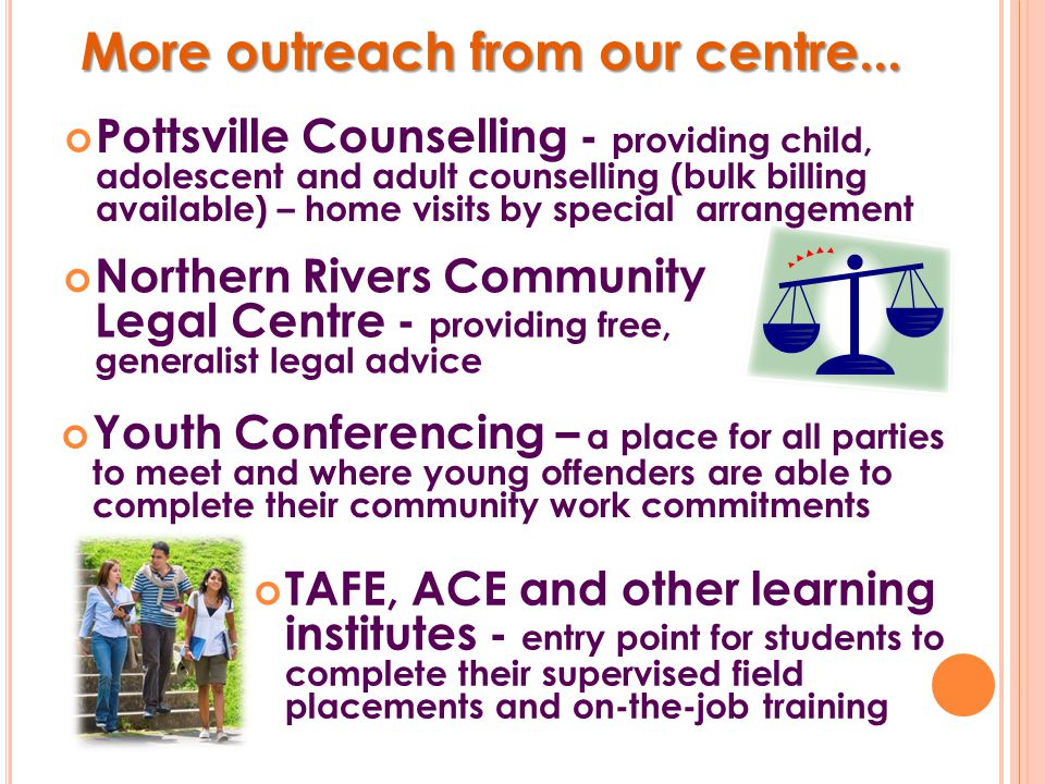 Brighter Futures Consortium of Neighbourhood Centres Far North Coast (CONC) Consortium of Neighbourhood Centres Far North Coast (CONC) An early intervention service providing support for targeted families with young children (up to 9 years of age).