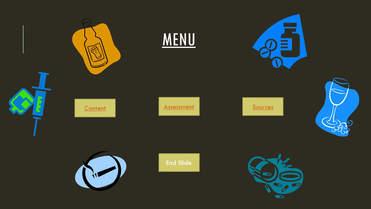 MENU Content Assessment Sources End Slide