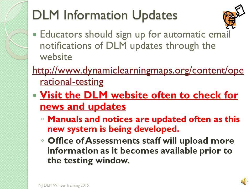 EDUCATOR PREPARATION 40 NJ DLM Winter Training 2015