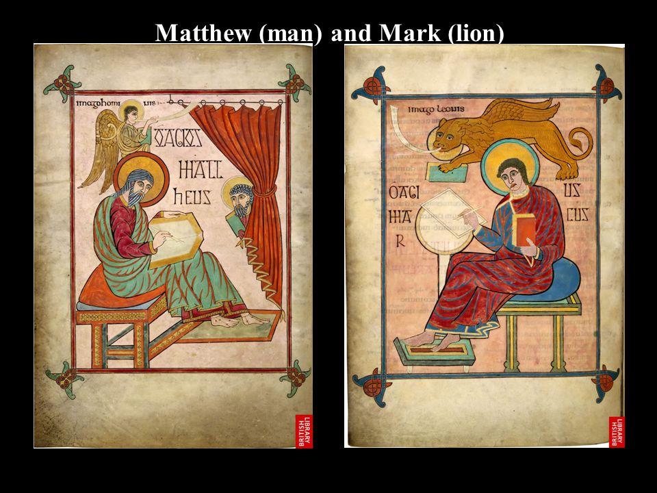 Matthew (man) and Mark (lion)