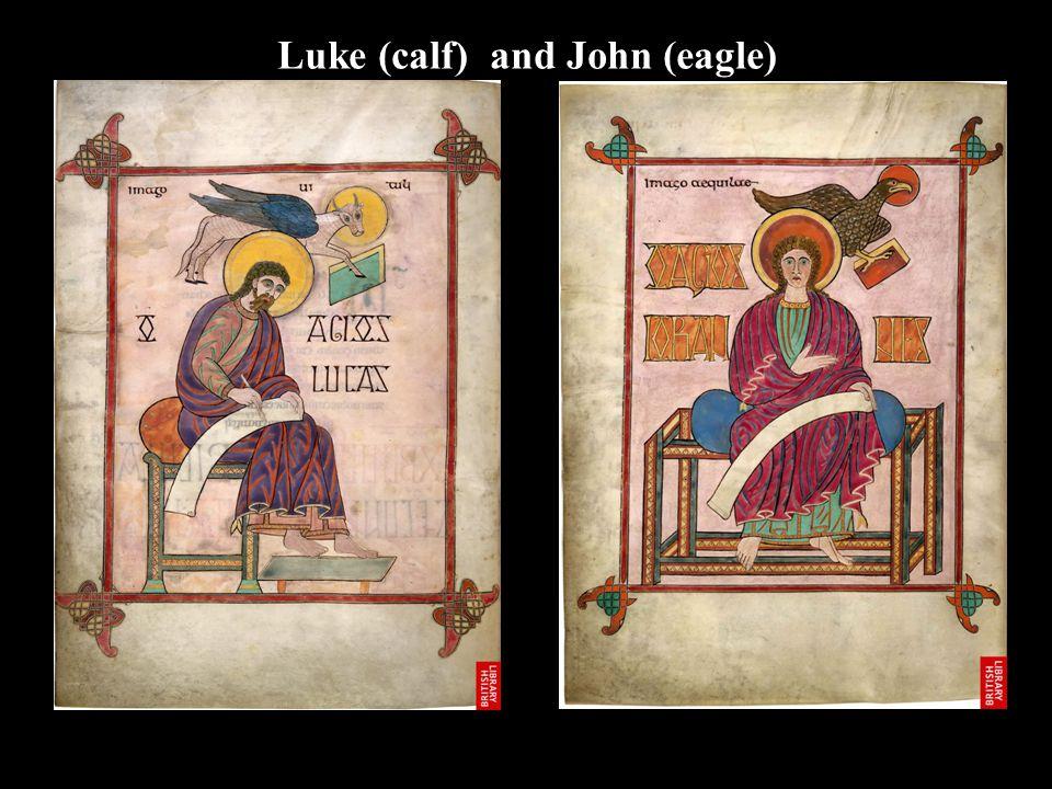 Luke (calf) and John (eagle)