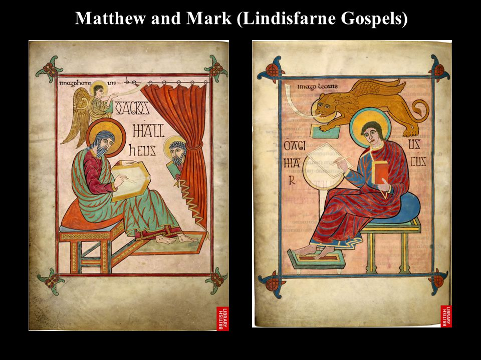 Matthew and Mark (Lindisfarne Gospels)