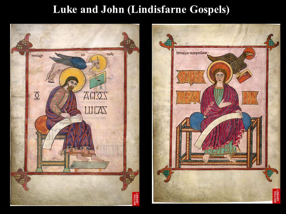 Luke and John (Lindisfarne Gospels)