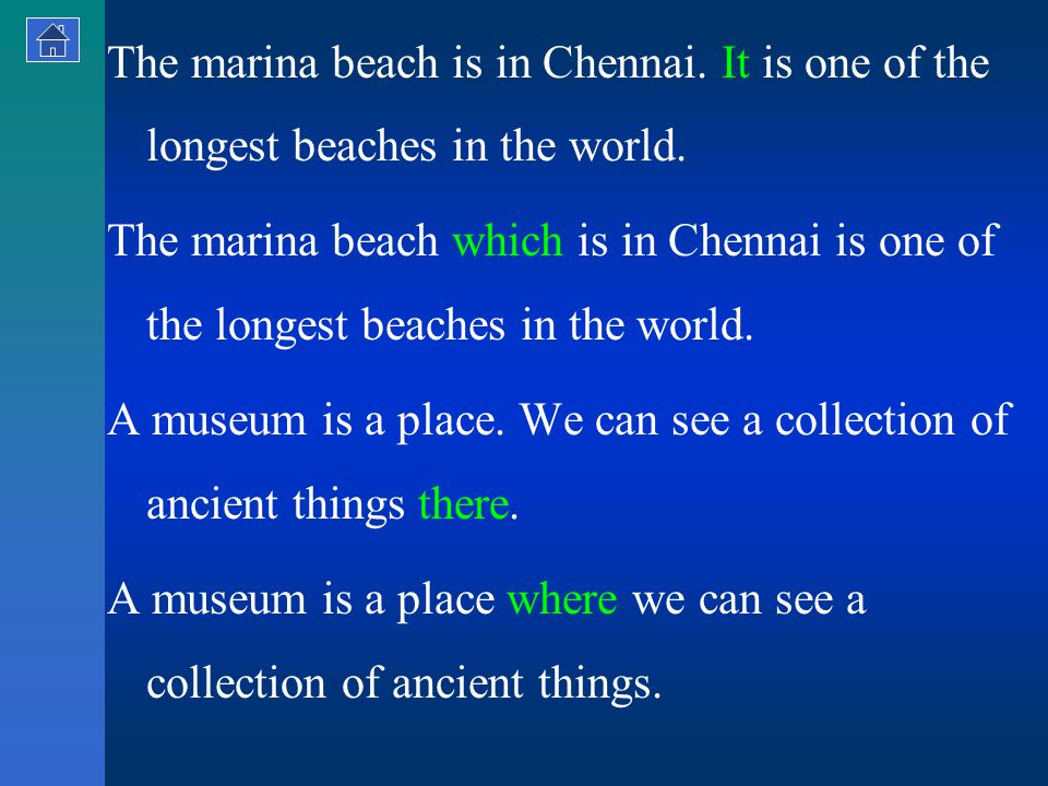The marina beach is in Chennai. It is one of the longest beaches in the world.