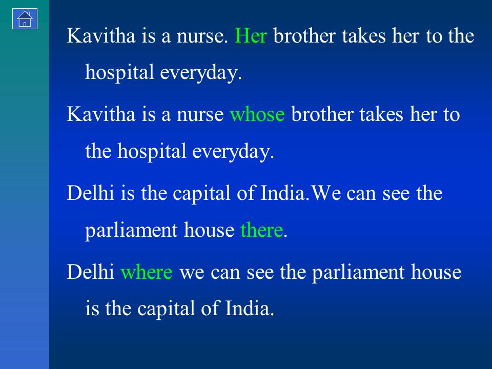 Kavitha is a nurse. Her brother takes her to the hospital everyday.