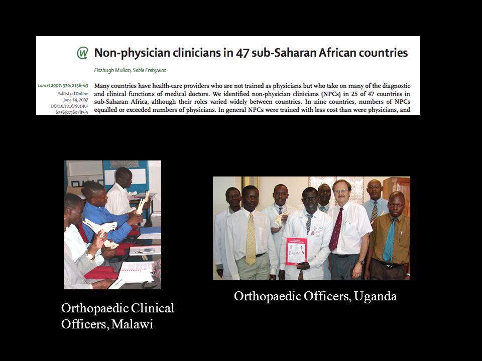 Orthopaedic Officers, Uganda Orthopaedic Clinical Officers, Malawi