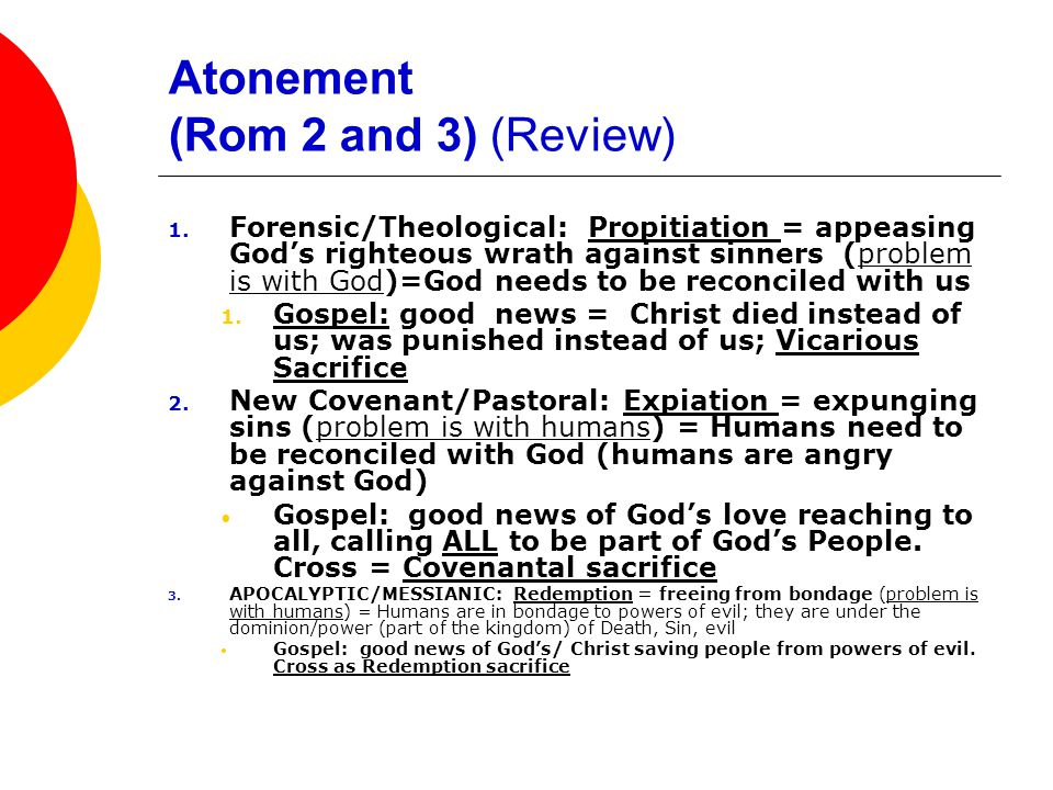 The gospel as the power of God for salvation to everyone who has faith  For Luther and Stuhlmacher:  Salvation = salvation from God's condemnation at the final judgment  You cannot earn it: you cannot be saved from final condemnation by good works: works-righteousness = impossible.