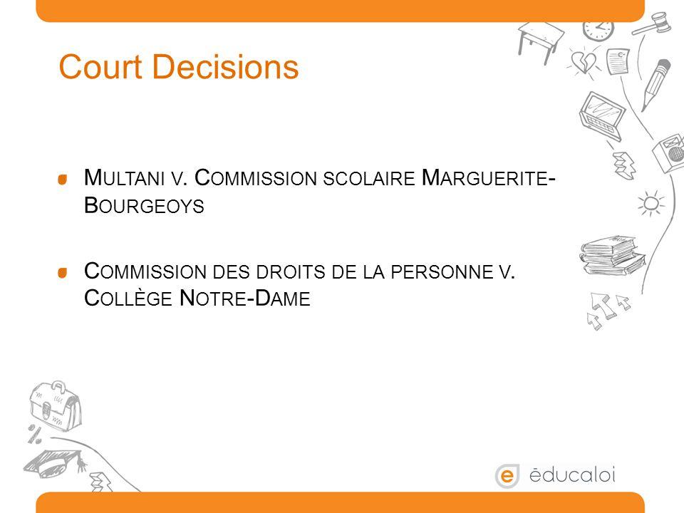 Court Decisions M ULTANI V.