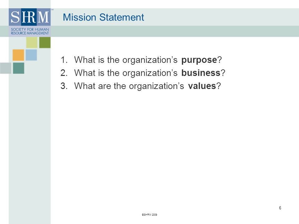 Mission Statement What's wrong with this mission statement.