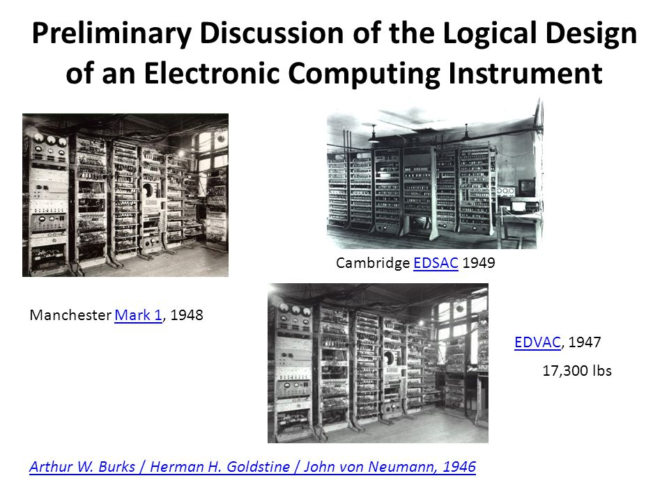 Preliminary Discussion of the Logical Design of an Electronic Computing Instrument Arthur W.