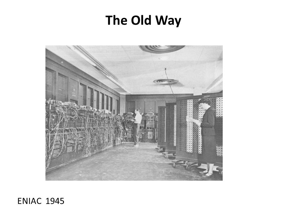 The Old Way ENIAC 1945