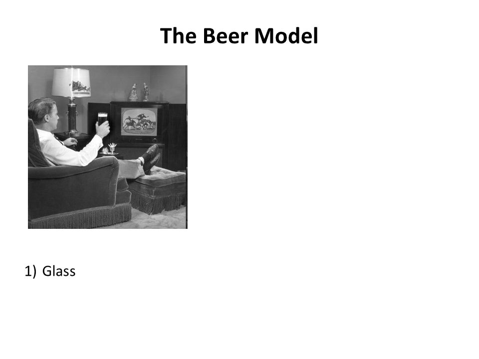 The Beer Model 1)Glass