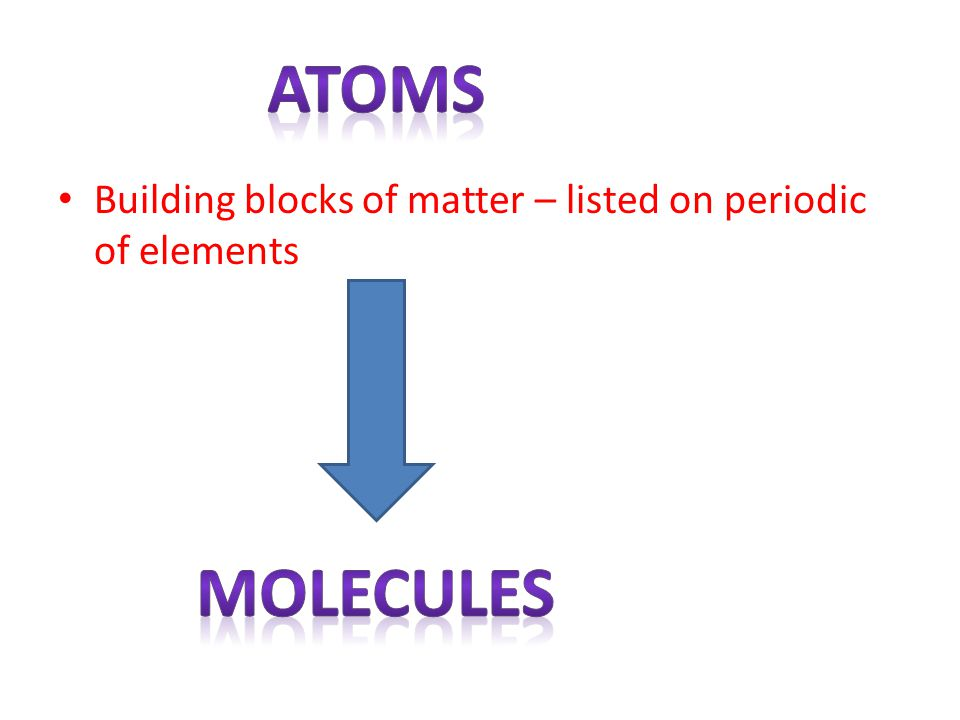 More than one element/atom bonded together