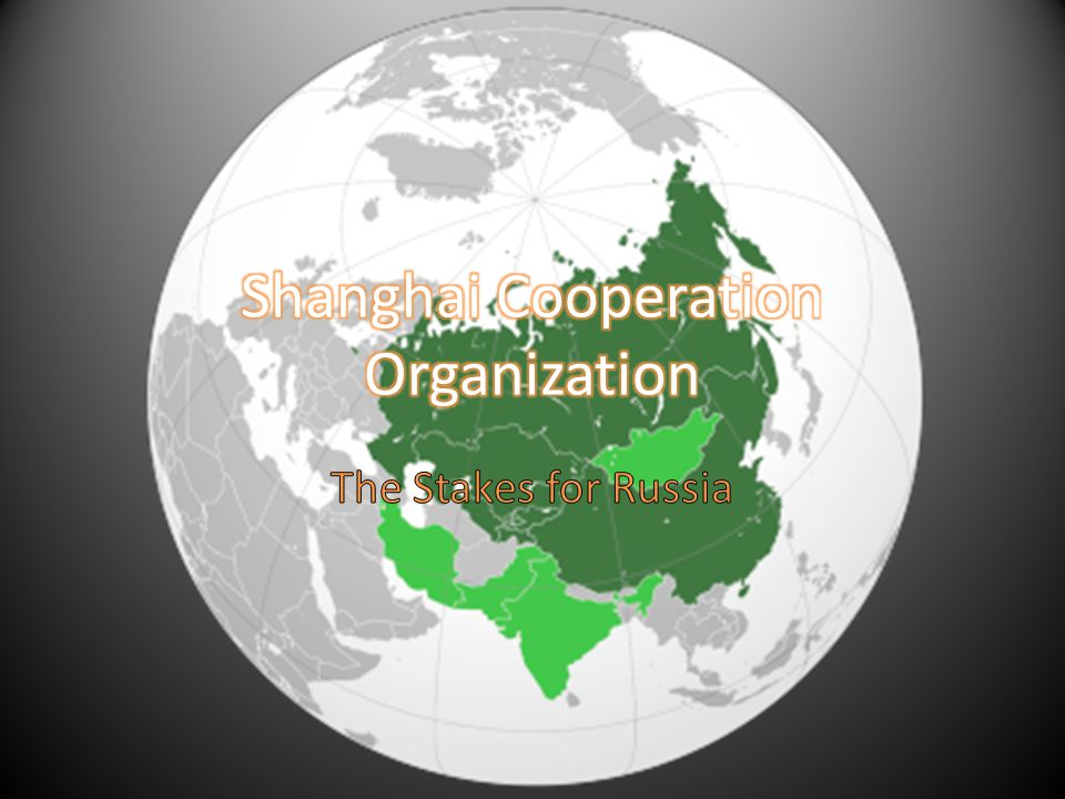 Origins of SCO: Shanghai Five 1996 Demarcation of borders Demilitarization of borders Unified front against transnational separatist movements Forum for economic cooperation Aug.
