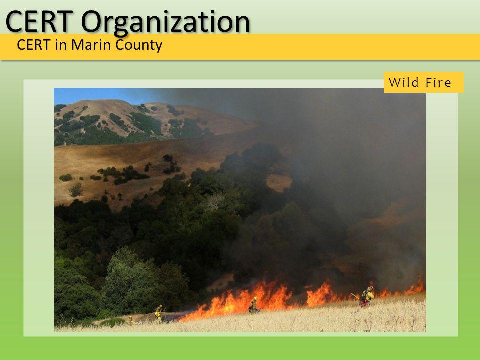 CERT Organization CERT in Marin County Wild Fire