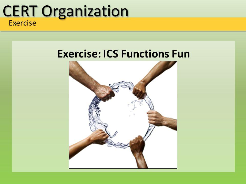 CERT Organization Exercise Exercise: ICS Functions Fun