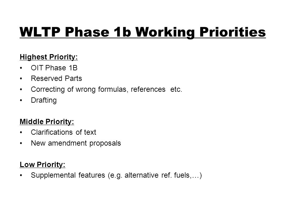 Highest Priority: OIT Phase 1B Reserved Parts Correcting of wrong formulas, references etc.