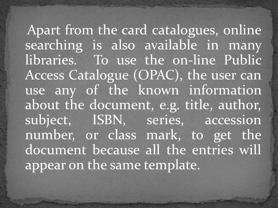 In conclusion, Cataloguing and Classification have remained essential activities in traditional and electronic information retrieval environments.
