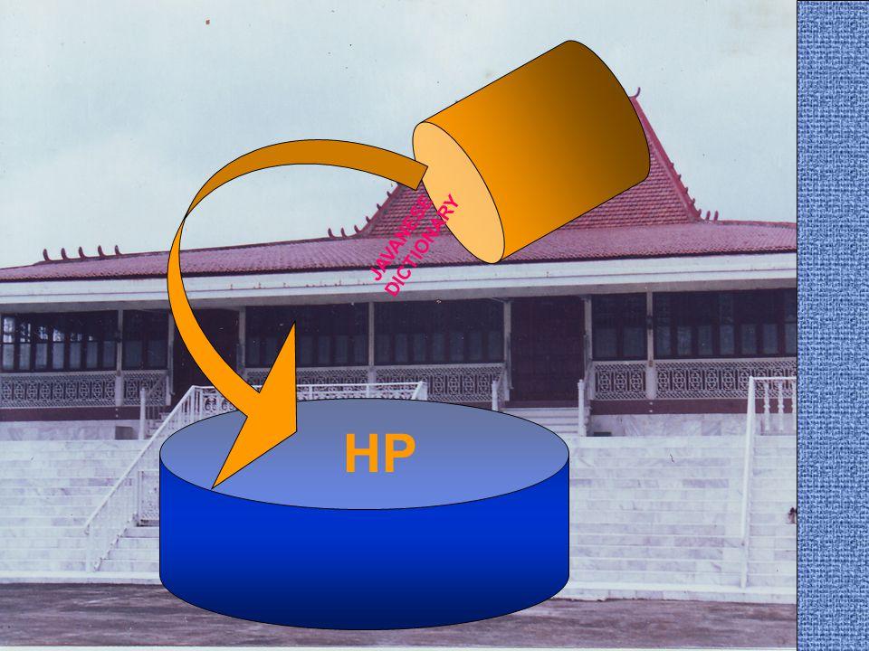HP JAVANESE DICTIONARY