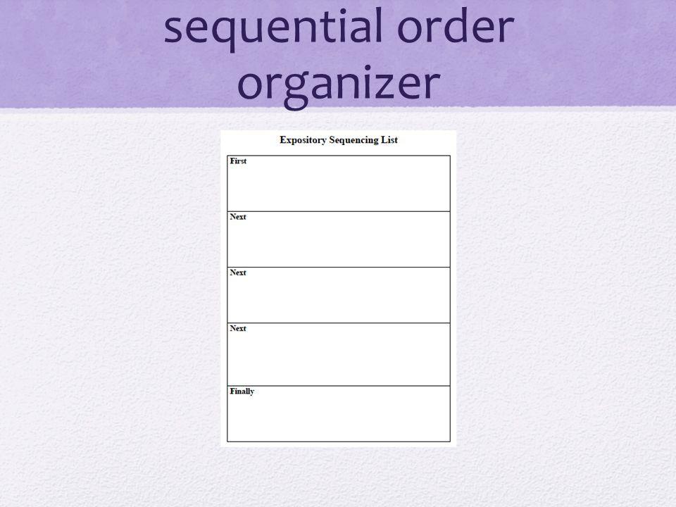 sequential order organizer