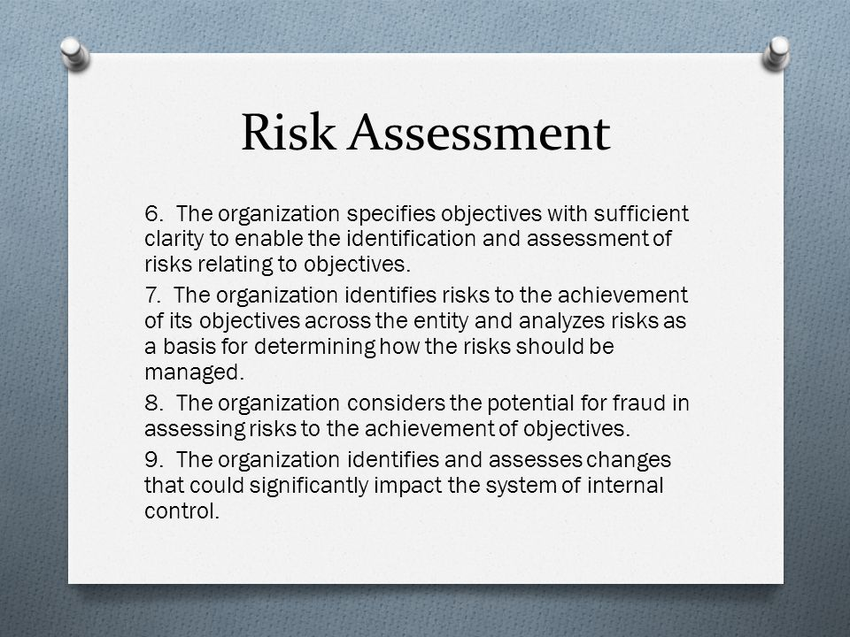 Risk Assessment 6.