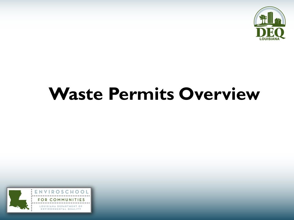 Waste Permits Overview